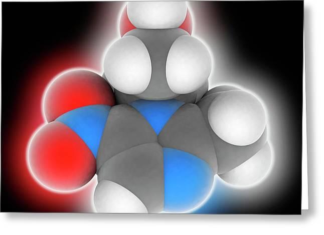 Metronidazole Drug Molecule Greeting Card by Laguna Design