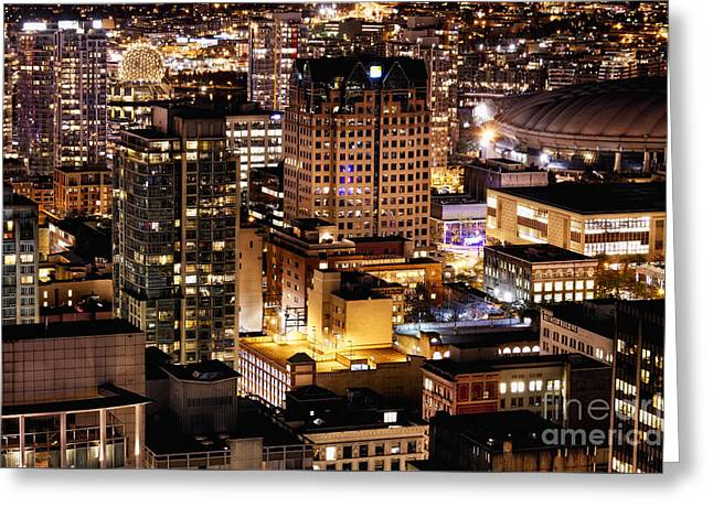 Greeting Card featuring the photograph Metropolis Vancouver Mdccxv  by Amyn Nasser