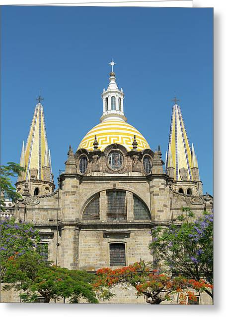 Metropolitan Cathedral, The Plaza De La Greeting Card by Douglas Peebles