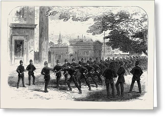 Metropolitan Police Learning The Cutlass Exercise Greeting Card