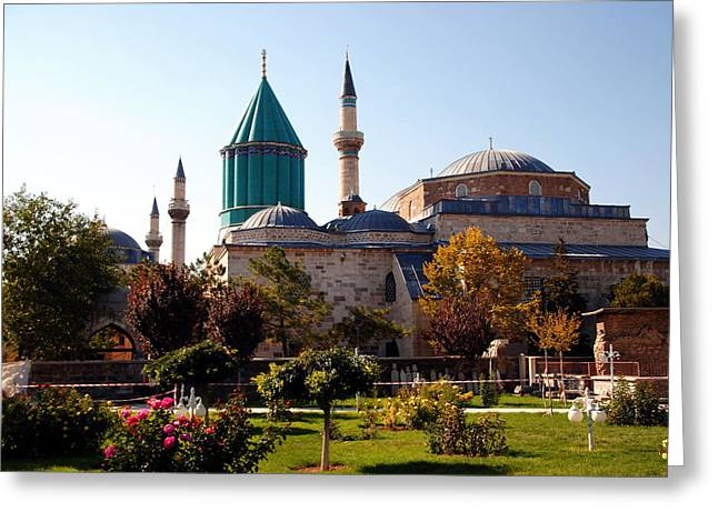 Mevlana Museum - Konya 2013 Greeting Card by Jacqueline M Lewis