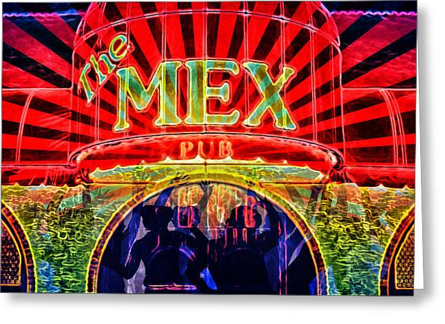 Greeting Card featuring the digital art Mex Party by Richard Farrington