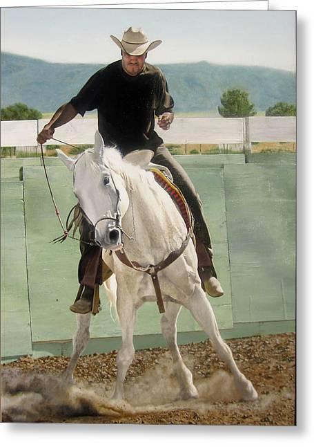 Mexican American Cowboy Greeting Card