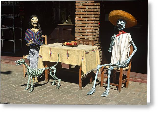 Mexican Antique Family Greeting Card by Roderick Bley
