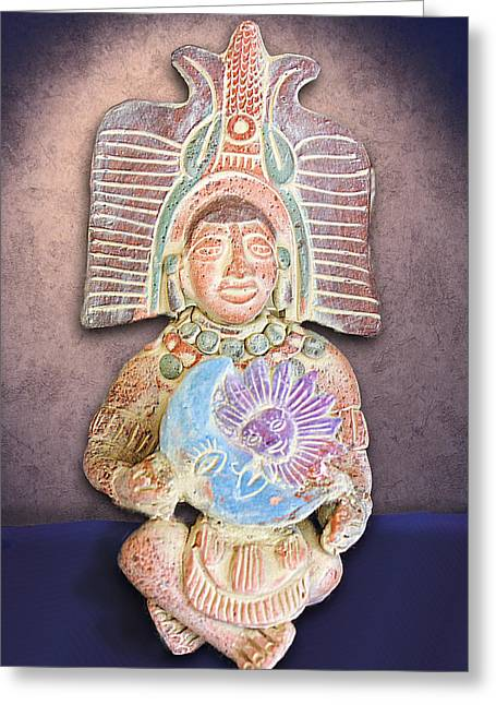 Mexican Clay Artwork Greeting Card by Linda Phelps