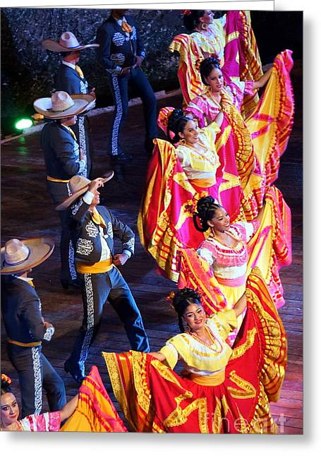 Mexican Folk Dance 14 Greeting Card by Rachel Munoz Striggow