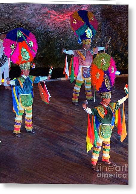 Mexican Folk Dance 4 Greeting Card by Rachel Munoz Striggow