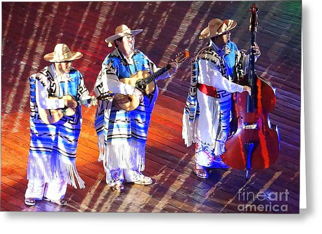 Mexican Folk Dance 5 Greeting Card by Rachel Munoz Striggow