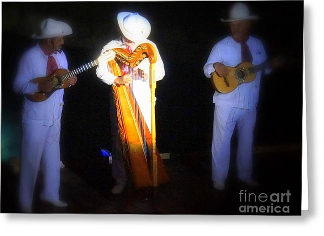Mexican Folk Dance 6 Greeting Card by Rachel Munoz Striggow