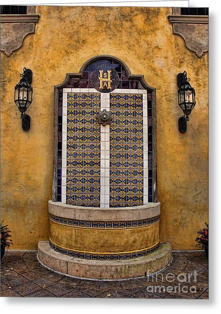 Mexican Hacienda Fountain II Greeting Card