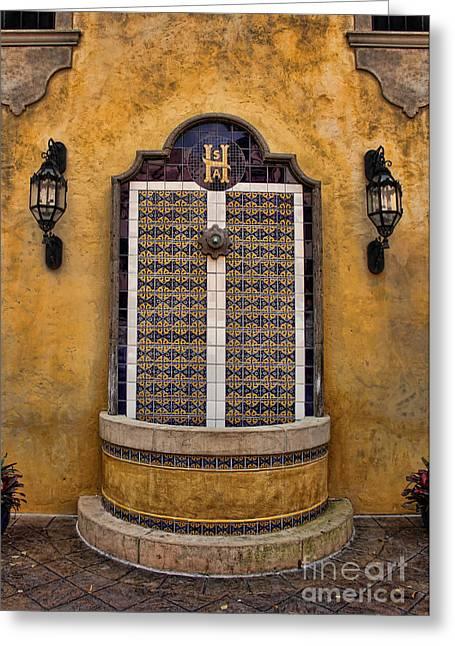 Mexican Hacienda Fountain II Greeting Card by Lee Dos Santos