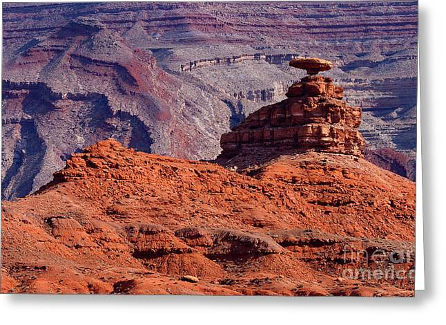 Mexican Hat Greeting Card by Mike  Dawson