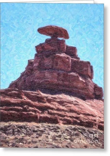 Mexican Hat Utah Usa Greeting Card by Liz Leyden
