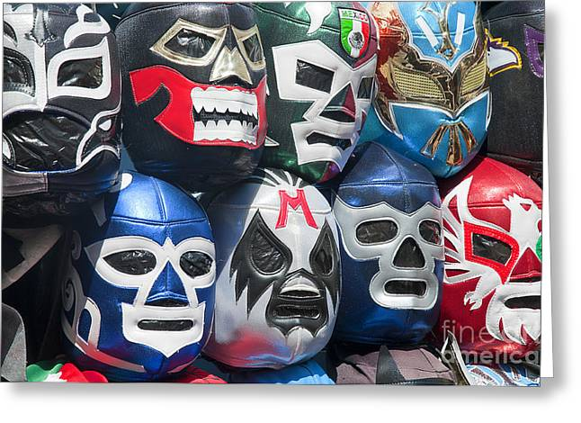 Mexican Head Masks Greeting Card