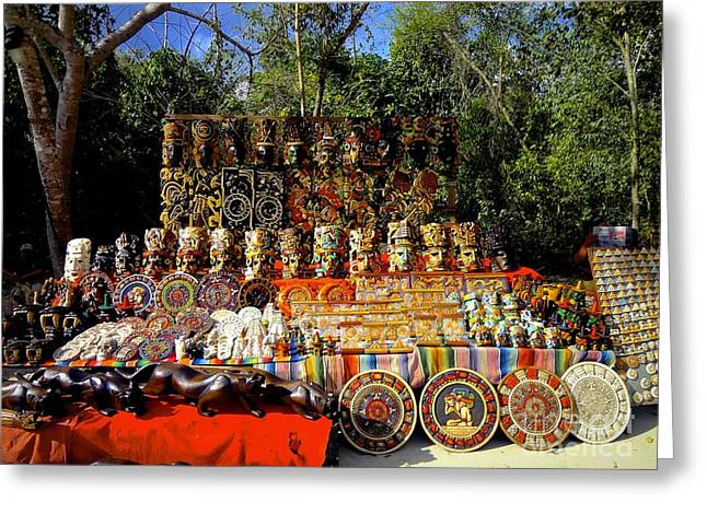 Greeting Card featuring the photograph Mexican Market  by Sarah Mullin