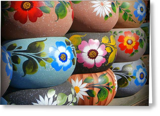 Mexican Pottery In Old Town Greeting Card