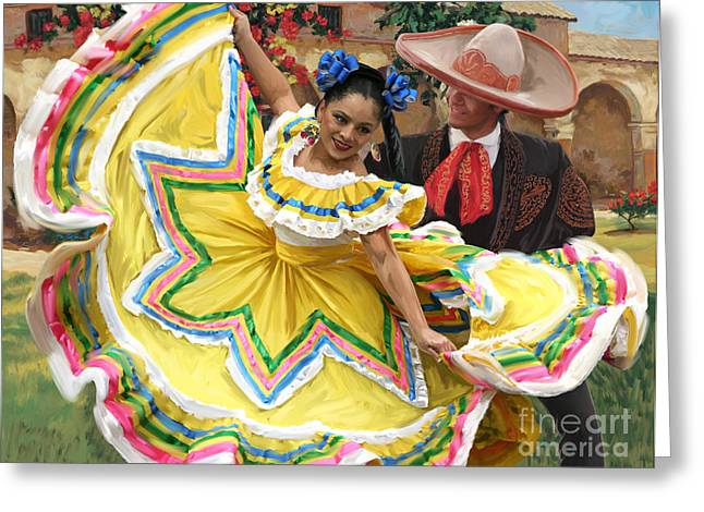 Mexicanhatdance Greeting Card