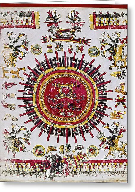 Mexico Aztec Calendar Greeting Card