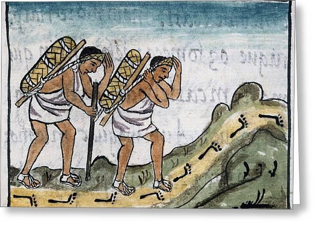 Mexico Aztec Merchants Greeting Card