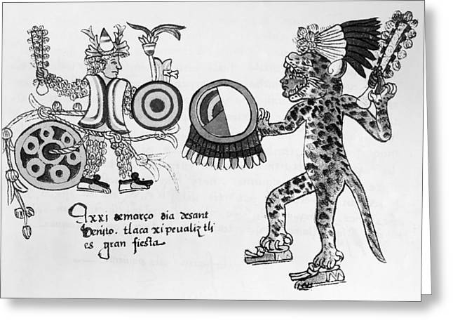 Mexico Aztec Ritual Greeting Card by Granger