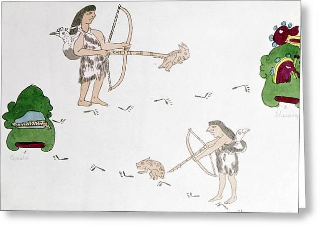 Mexico Aztecs Hunting Greeting Card