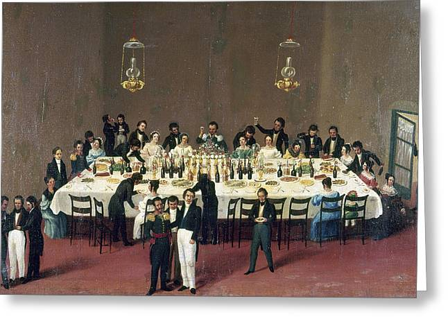 Mexico Banquet, 1844 Greeting Card by Granger