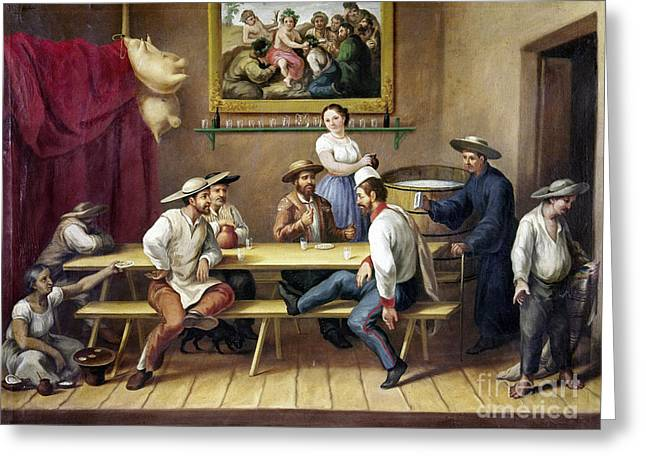 Mexico: Bar Scene Greeting Card by Granger