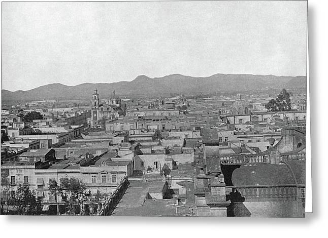 Mexico City, C1890 Greeting Card