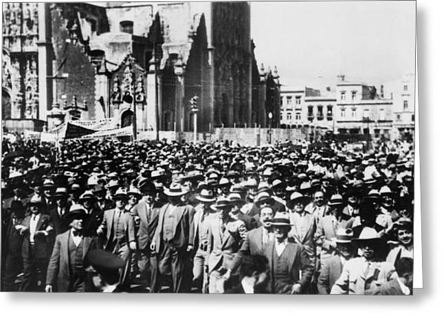 Mexico City Demonstration Greeting Card