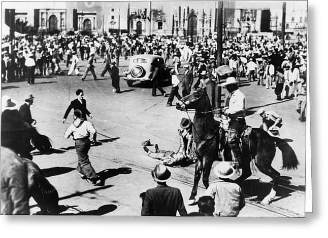 Mexico City Riot, 1938 Greeting Card