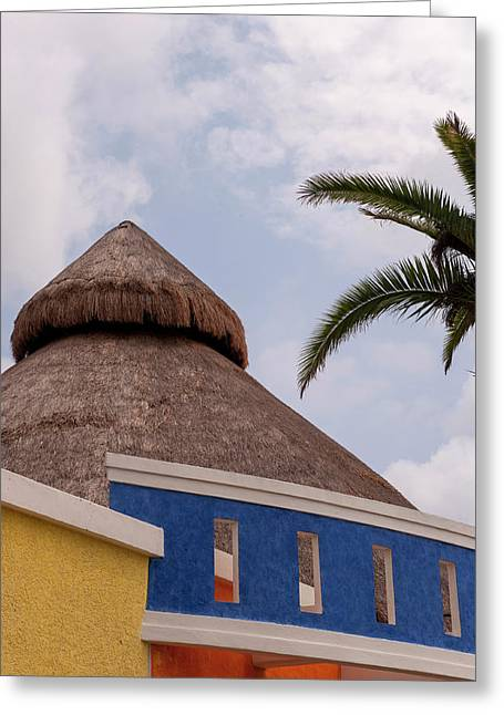 Mexico, Cozumel, Thatched Roof Store Greeting Card