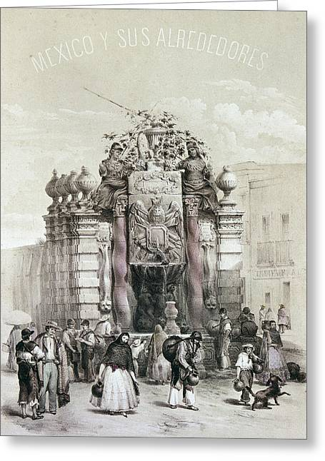 Mexico Fountain Greeting Card by Granger