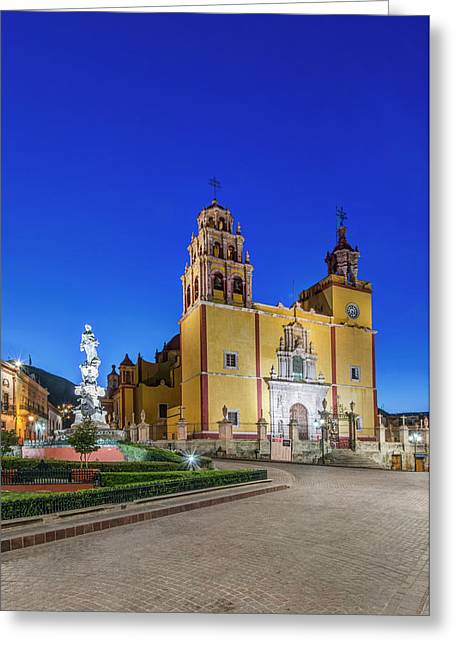 Mexico, Guanajuato, Plaza De La Paz Greeting Card by Rob Tilley