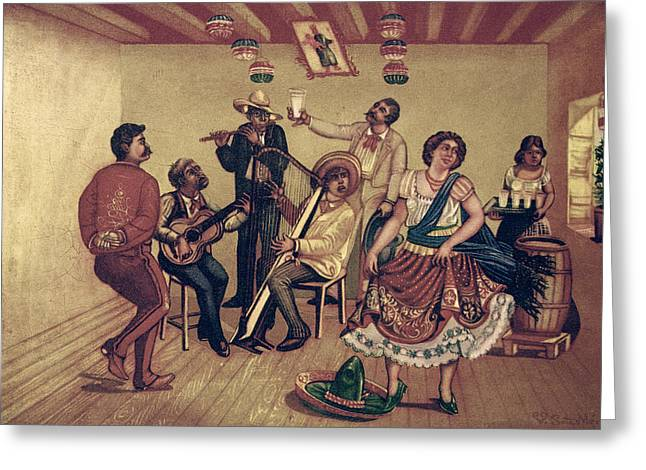 Mexico: Hat Dance Greeting Card by Granger