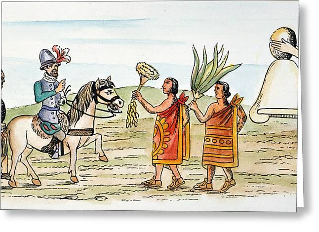 Mexico Hernando Cortes Welcomed Greeting Card