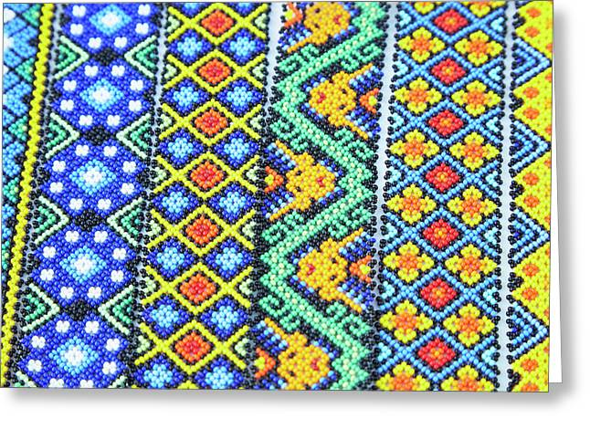Mexico, Jalisco Colorful Beaded Greeting Card by Jaynes Gallery