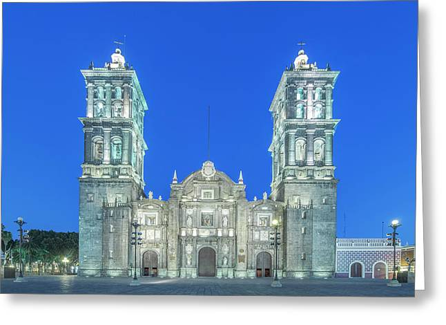 Mexico, Puebla Cathedral Completed Greeting Card