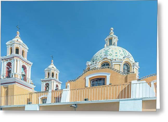 Mexico, Puebla, Cholula, Santuario De Greeting Card