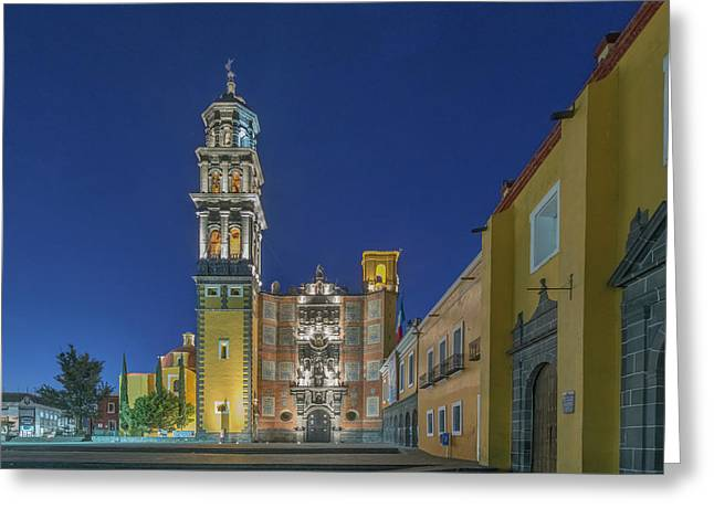 Mexico, Puebla, Church Of San Francisco Greeting Card