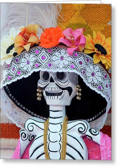 Mexico, San Miguel De Allende, Skeleton Greeting Card by Jaynes Gallery
