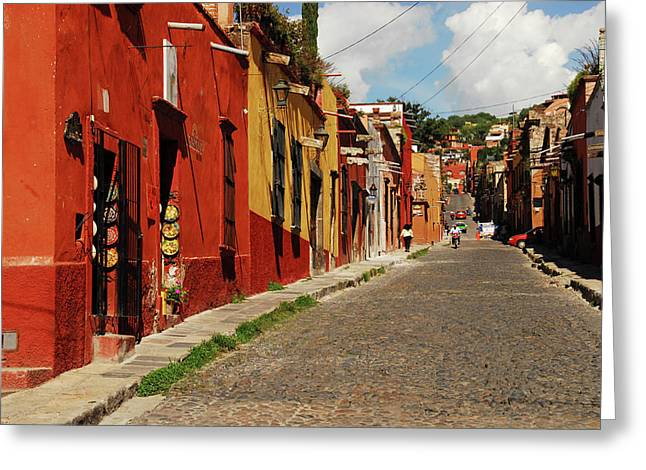 Mexico, San Miguel De Allende, View Greeting Card by Anthony Asael