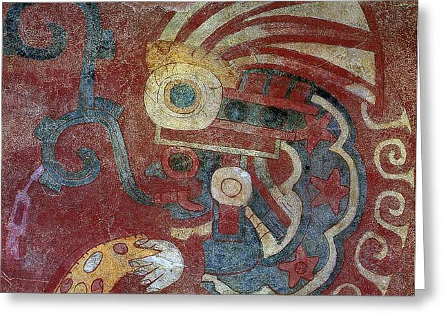 Mexico Teotihuacan Fresco Greeting Card by Granger