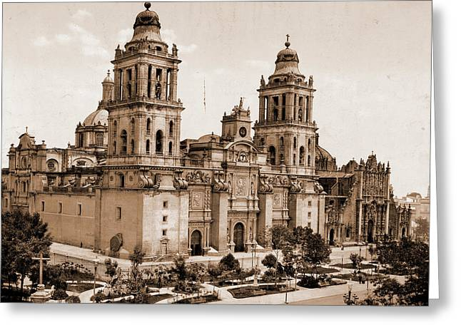 Mexico, The Cathedral, City Of Mexico, Jackson, William Greeting Card