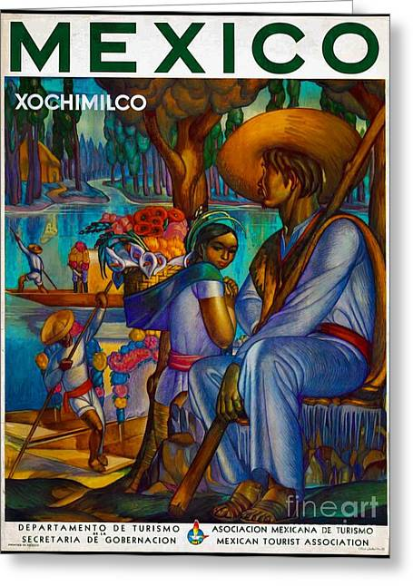 Mexico Travel Poster Greeting Card