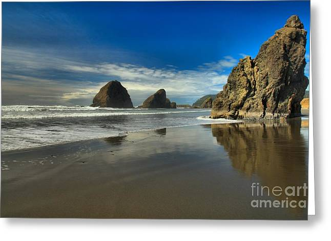 Meyers Creek Beach Greeting Card by Adam Jewell
