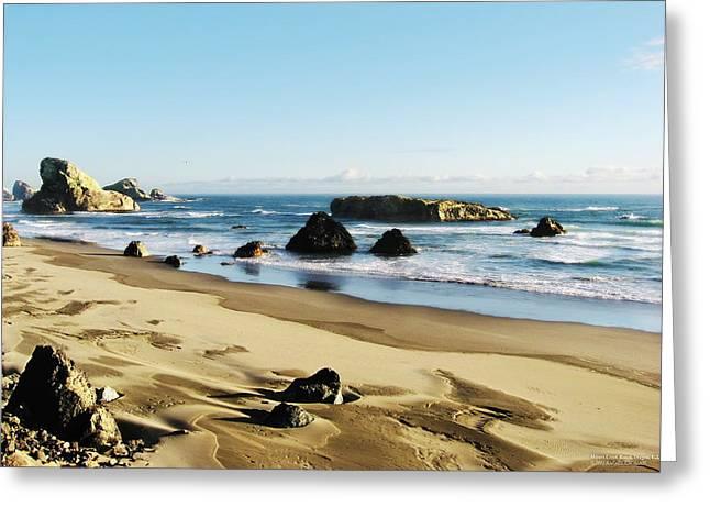 Meyers Creek Beach Oregon Greeting Card by Rafael Escalios