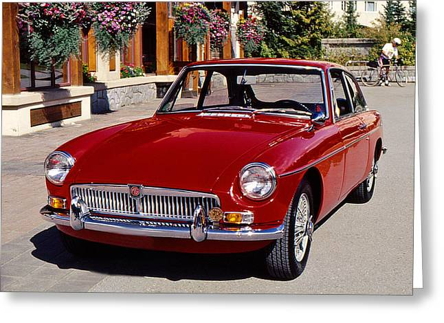 Mgb In Whistler Greeting Card by Christopher McKenzie
