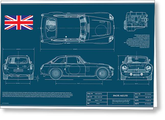 Mgc.gts Blueplanprint Greeting Card by Douglas Switzer