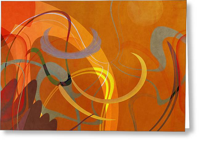 Mgl - Abstract Twirl 05 Greeting Card by Joost Hogervorst