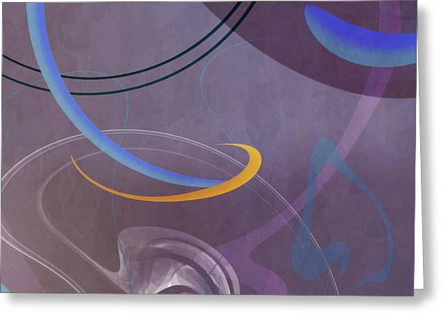 Mgl - Abstract Twirl 07 II Greeting Card by Joost Hogervorst